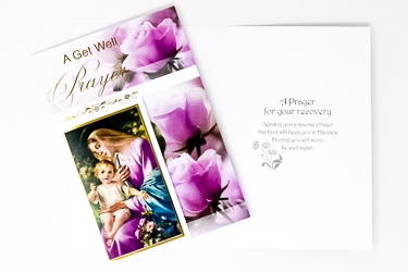 A Get Well Prayer Card.