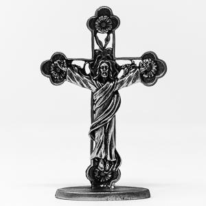 Silver Risen Christ Crucifix.