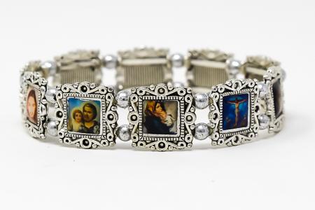 All Saints Silver Faith Bracelet.