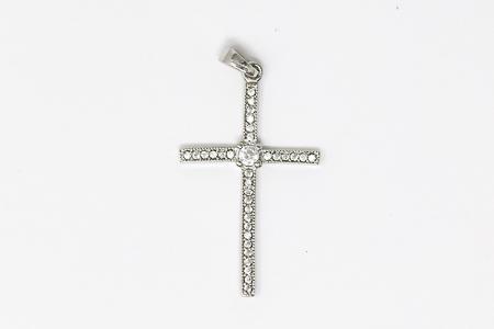 925 Sterling Cross Pendant.