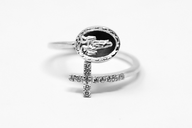 Our Lady of Fatima Silver Apparition Ring.