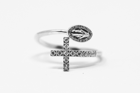 Silver Miraculous Ring.