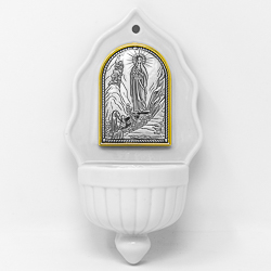 Silver Plated Holy Water Font.