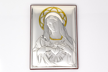 Immaculate Heart of Mary Icon Wall Plaque.