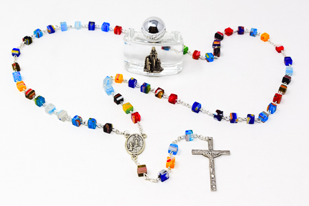 Lourdes Silver Rosary.