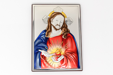 Sacred Heart of Jesus Icon Wall Plaque.