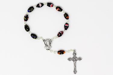 Virgin Mary Murano Glass Decade Rosary.