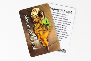 Sleeping Prayer Card St Joseph.