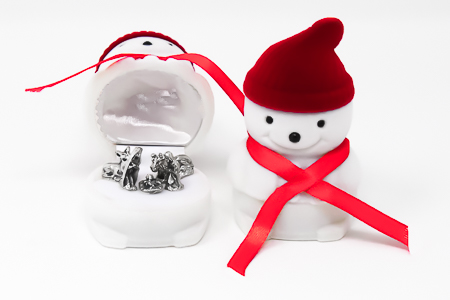 Christmas Stocking filler Snowman Nativity Set