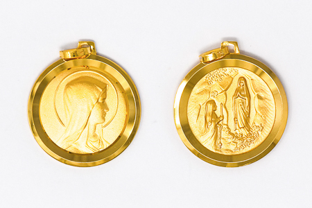 Solid Gold Apparition Pendant.