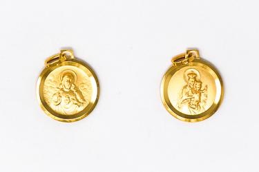 Solid Gold Scapular Medal.