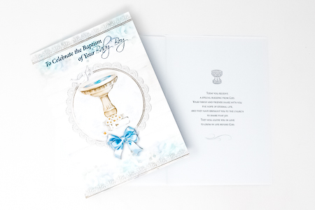 Special Blessing Baptism Card.
