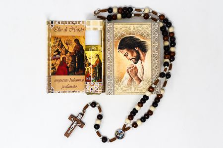Spikenard Oil & Rosary Gift Set.