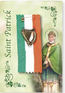 Saint Patrick Harp Badge.