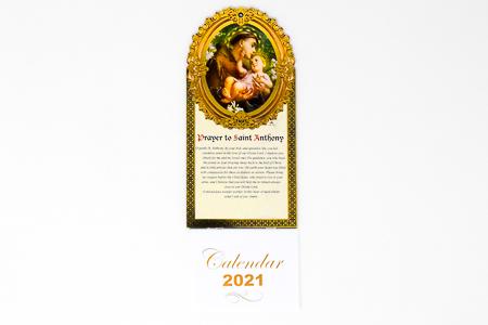 St. Anthony Calendar 2021.