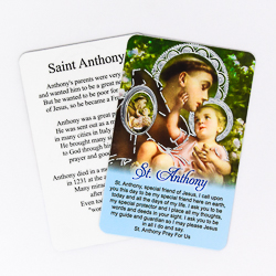 St. Anthony Prayer Card & Medal