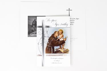 St. Anthony Sympathy Mass Card.