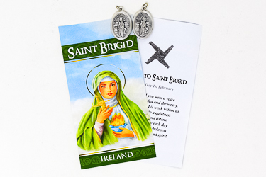 Prayer Card & Medal - Saint Brigid.