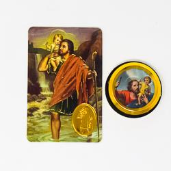 St. Christopher Car Magnet & Prayer Card.