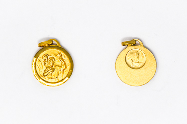 Gold St. Christopher Medal.