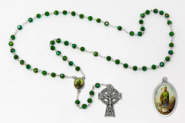 St. Patrick  Rosary Set with Medal.