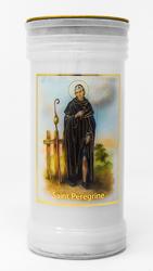 Saintt. Peregrine Pillar Candle