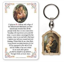 St Anthony Key Chain & Prayer Card.
