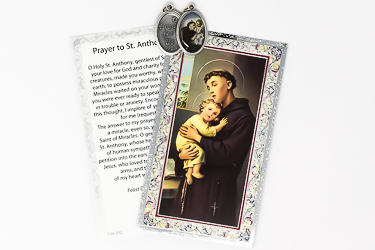 St Anthony Medal and Prayer Card.