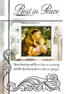 St Anthony Sympathy Card.