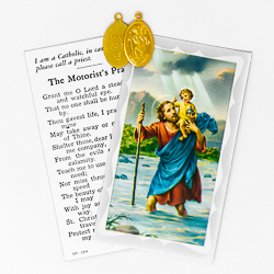 Saint Christopher Medal & Card.