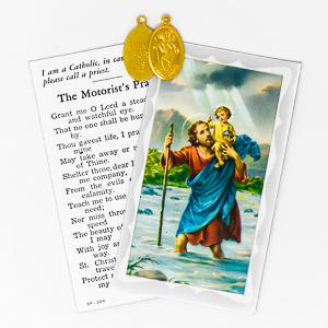 Saint Christopher Medal & Card.