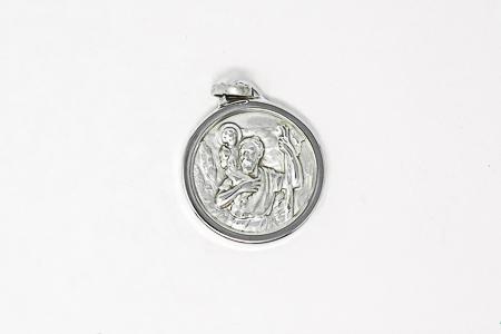 Silver St. Christopher Medal.