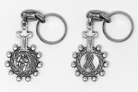 St Peregrine Rosary Key Ring.
