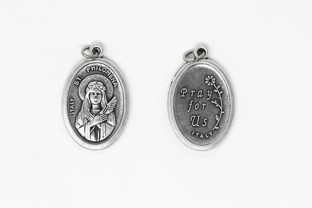 St Philomena Oxidised Medal.
