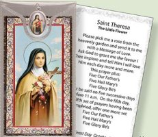 St.Theresa Medal & Prayer Card.