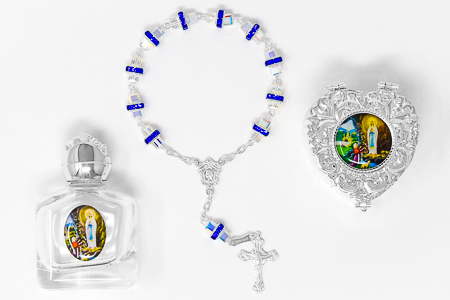 Sterling Silver Rosary Gift Set.