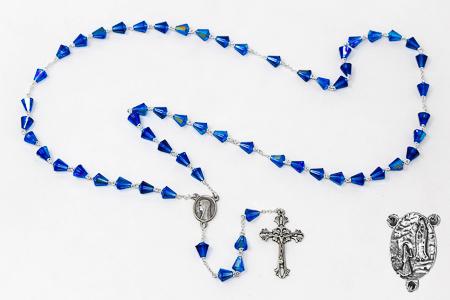 Sterling Silver Lourdes Swarovski Rosary.