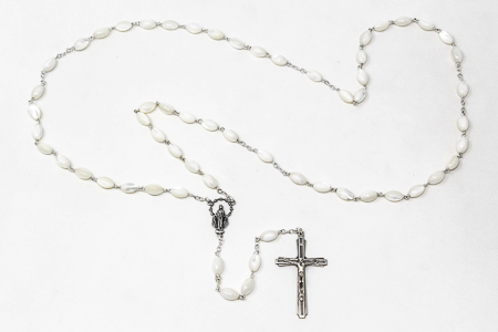 925 Mother of Pearl Miraculous Rosary.