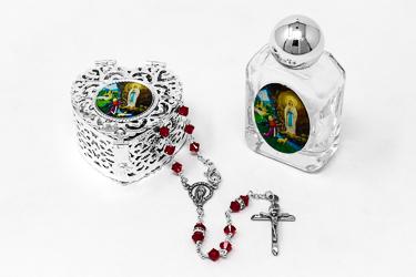 Sterling Silver Swarovski Rosary Gift Set.