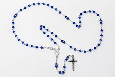 Blue Swarovski Rosary