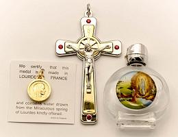 Swarovski Cross & Lourdes Water�Gift Set.