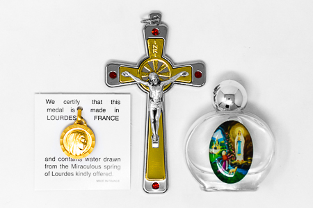 Swarovski Cross & Lourdes Water�Gift Set.