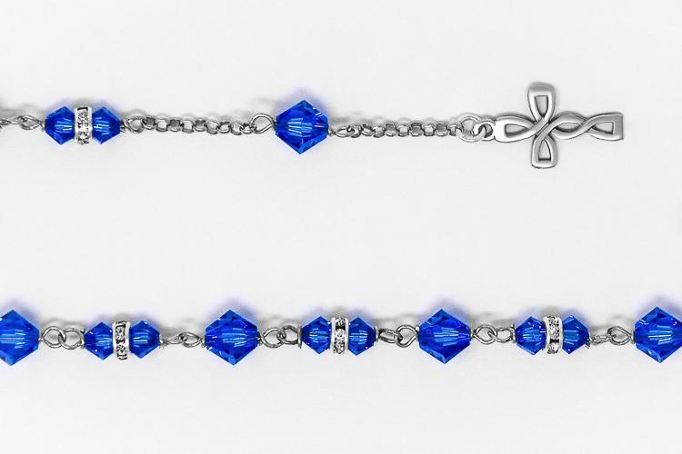 Swarovski Crystal Rosary Bracelet.