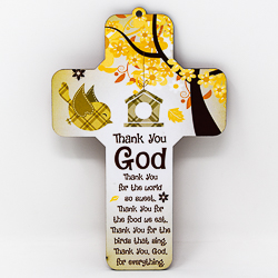 Thank You God Wall Cross.