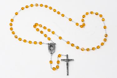Topaz Bohemia Crystal Rosary Beads.
