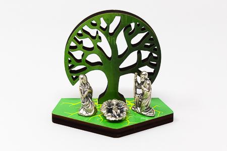 Tree of life Wood Nativity.