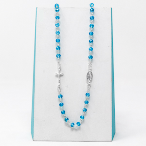 Turquoise Miraculous Rosary Necklace.