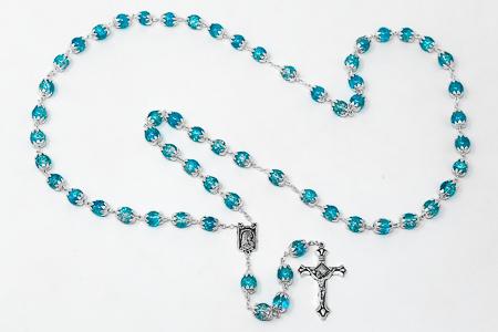 Iridescent Crystal Rosary Beads.