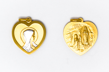 Heart Pendant of Our Lady of Lourdes.