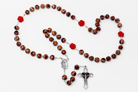 Varnished Rosary.